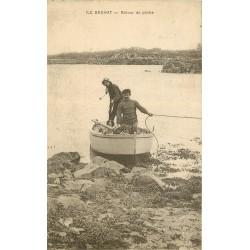 22 ILE DE BREHAT. Retour de Pêche 1923