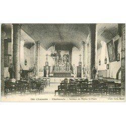 carte postale ancienne 16 CHABANAIS. Eglise Saint-Pierre. Carte écrite