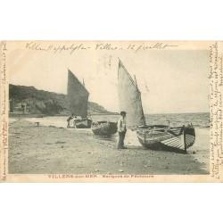 14 VILLERS-SUR-MER. Barques de Pêcheurs 1903