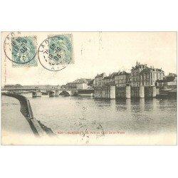 carte postale ancienne 02 SOISSONS. Port et Quai Saint-Waast 1905