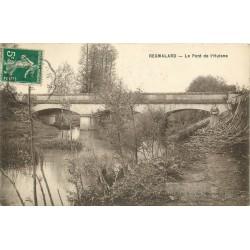 61 REGMALARD REMALARD. Le Pont de l'Huisne avec Paysanne cherchant du bois