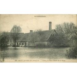 03 SAINT-DIDIER-EN-DONJON. Etang du Vieux Moulin de la Bazole 1923