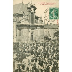 54 NANCY. Marché aux Légumes devant Eglise Saint-Sébastien 1912