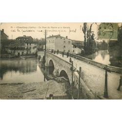 42 CHARLIEU. Pont de Pierre sur le Sorin 1918