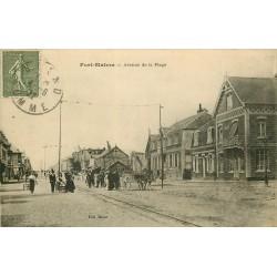 80 FORT MAHON. Attelage âne avenue de la Plage 1922