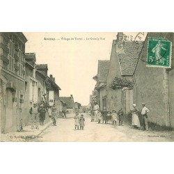 41 AVARAY. La Grande Rue Village du Tertre belle animation 1913