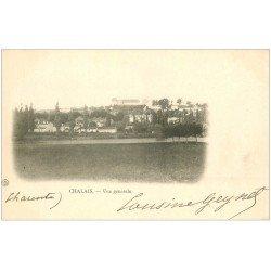 carte postale ancienne 16 CHALAIS. Vue générale vers 1900