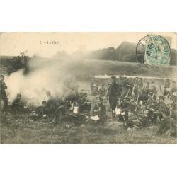 10 MAILLY-LE-CAMP. La pause Café pour les Militaires 1906