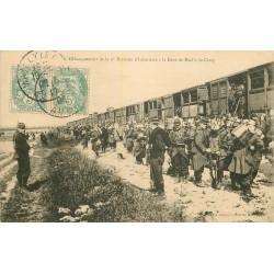 10 MAILLY-LE-CAMP. Débarquement 6 Division Infanterie à la Gare 1906