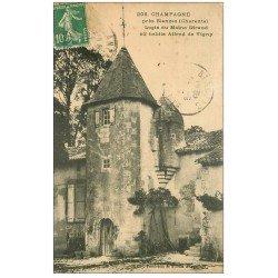 carte postale ancienne 16 CHAMPAGNE. Logis du Maine Giraud. Alfred de Vigny 1923