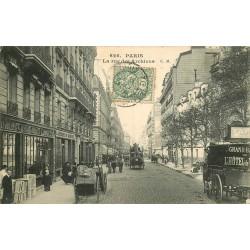 PARIS 04. Attelage de livraisons de l'Hotel de Ville rue des Archives 1906