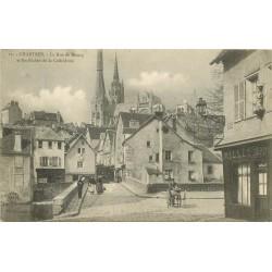 28 CHARTRES. Buvette Millet rue du Bourg 1906 avec rétameur ambulant
