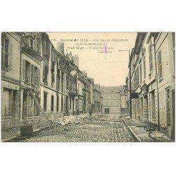 carte postale ancienne 02 SOISSONS. Rue de Soissons 1915