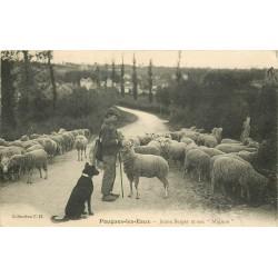 """58 POUGUES-LES-EAUX. Jeune Berger et son """" Mignon """" avec moutons"""