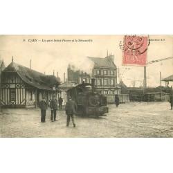 14 CAEN. La Gare Saint-Pierre et le Décauville 1906 train à vapeur