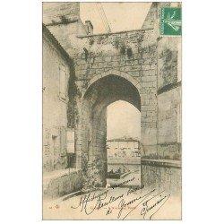 carte postale ancienne 16 COGNAC. Ancienne Porte 1908