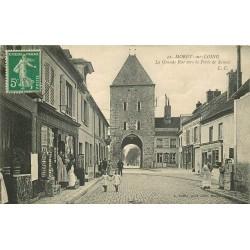 77 MORET-SUR-LOING. Epicerie cartes postales sur la Grande Rue vers Porte de Samois 1912