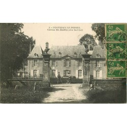 14 FONTENAY-LE-PESNEL. Château Saint-Aubin 1920