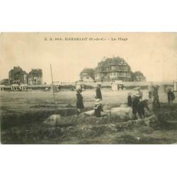 62 HARDELOT. Château de Sable sur la Plage 1914