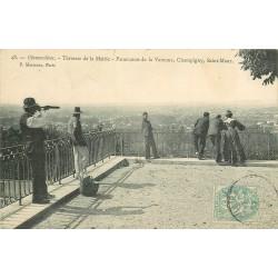 94 CHENNEVIERES. La Terrasse de la Mairie, panoramas de la Varenne, Champigny et Saint-Maur 1905