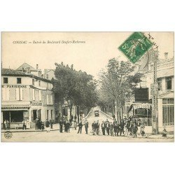 carte postale ancienne 16 COGNAC. Boulevard Denfert-Rochereau Boucherie Parisienne 1914