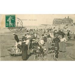 76 LE TREPORT. Un des premiers Pédalo sur le sable vers 1912