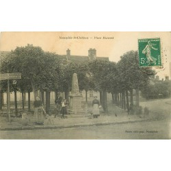 78 NEAUPHLE-LE-CHATEAU. Place Mancest 1911 belle animation