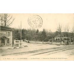 92 LA JONCHERE. Le Rond-Point station du Tramway de Saint-Germain 1904