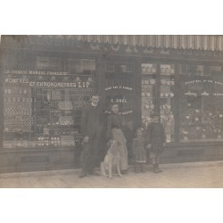 "Top Rare 93 PANTIN. Photo Cpa Bijouterie Horlogerie ""OREL"" rue du Chemin de Fer 1906"