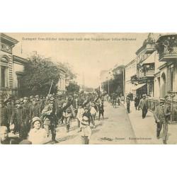 Allemagne ZOSSEN Wünsdorf Bahnhofstrasse. Transport de Prisonniers Français vers 1915
