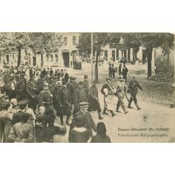 ZOSSEN Wünsdorf Kriegsgefangene. Transport de Prisonniers Français vers 1915
