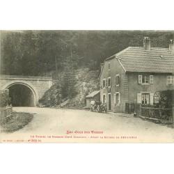 88 BUSSANG. Attelage au Tunnel du Col des Vosges avant Guerre 1914