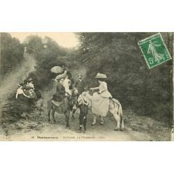 95 MONTMORENCY. La Promenade à ânes en Forêt vers 1910