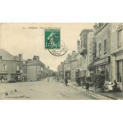 53 GORRON. Place du Général Barabé avec Coiffeur 1913
