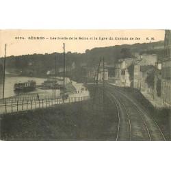 92 SEVRES. Ligne du Chemin de fer sur les Bords de la Seine 1915