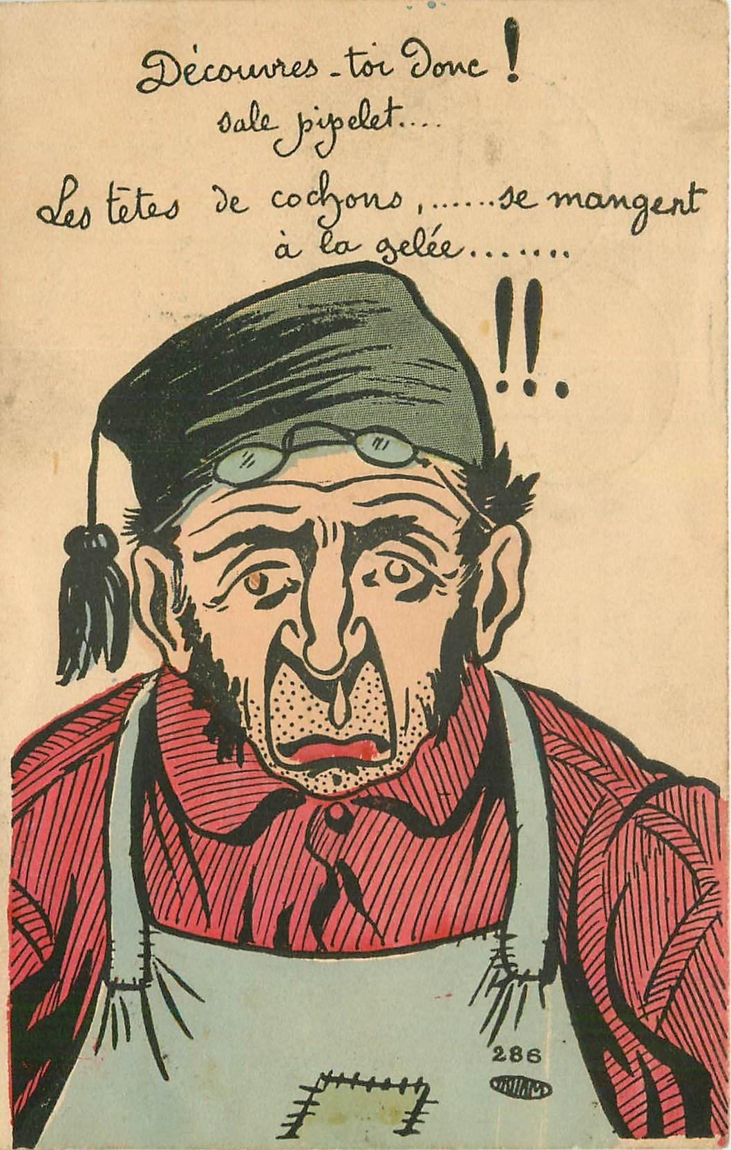 HUMOUR. Découvres-toi donc ! sale pipelet 1904. Illustrateur à identifier..