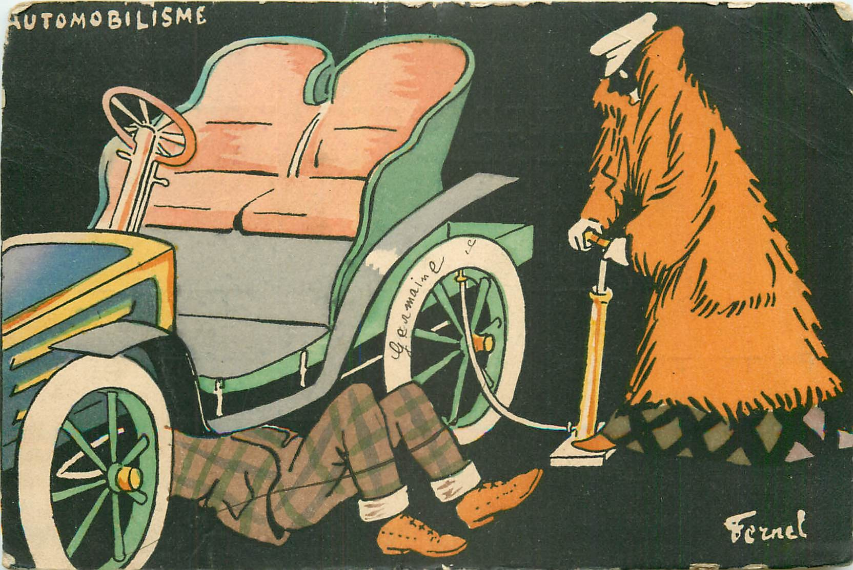 Illustrateur FERNEL. Automobilisme