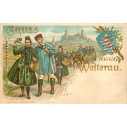 Illustrateur SCHULZE. Allemagne. GRUSS AUS DER WETTERAU 1900