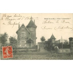 77 BROU SUR CHANTEREINE . Villa Chanteclair avec Jardinier 1912