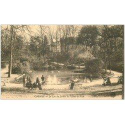 carte postale ancienne 16 COGNAC. Jardin de l'Hôtel de Ville