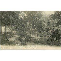 carte postale ancienne 16 COGNAC. Jardin de l'Hôtel de Ville 1911