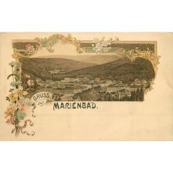 Gruss aus MARIENBAD vers 1900 en Tchéquie