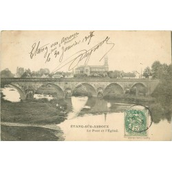71 ETANG-SUR-ARROUX. Pont et Eglise 1907
