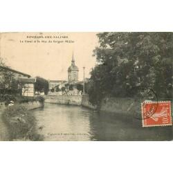 54 ROSIERES-AUX-SALINES. Le Canal et la rue du Sergent Müller 1913