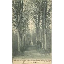 77 GERMIGNY L'EVEQUE. Allée des Tilleuls Château de Bossuet 1905 vers Trilport