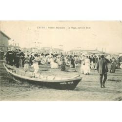 34 CETTE ou SETE. La Plage après le Bain 1914