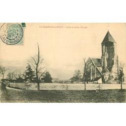 77 LA CHAPELLE-LA-REINE. Eglise et ancien Clocher 1905 avec son Cimetière