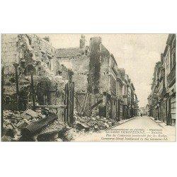 carte postale ancienne 02 SOISSONS. Rue du Commerce 1914-18