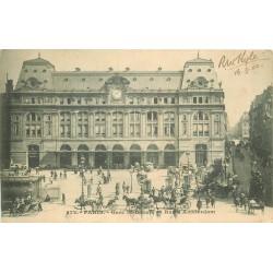 75 PARIS 09. Gare Saint-Lazare rue d'Amsterdam 1902