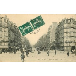PARIS 75007. Tramways à Impérial avenue Rapp 1910